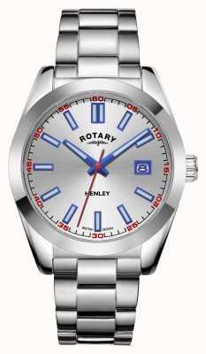 Rotary 男士亨利|银表盘|不锈钢手链 GB05180/59