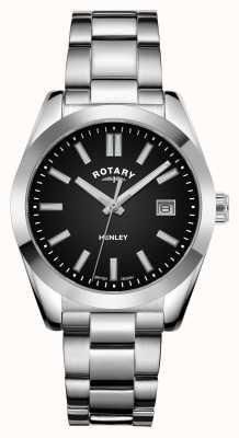 Rotary 女装亨利|黑色表盘|不锈钢手链 LB05180/04