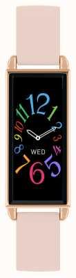 Reflex Active 系列2智能手表|彩色触摸屏|粉色皮革表带 RA02-2006