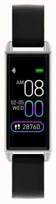 Reflex Active 系列2智能手表|彩色触摸屏|黑色皮革表带 RA02-2007