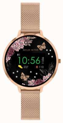 Reflex Active 系列3智能手表 玫瑰金不锈钢网状表带 RA03-4038