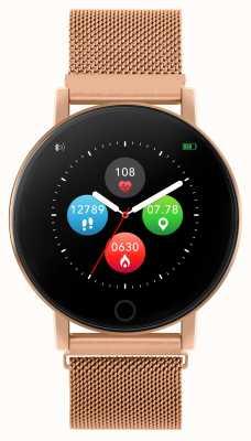 Reflex Active 系列5智能手表|小时监视器|彩色触摸屏|玫瑰金钢网 RA05-4016