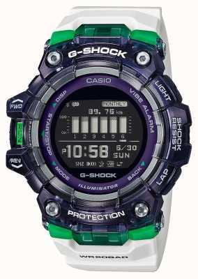 Casio G-shock |运动至关重要的系列|白色硅胶表带|黑色表盘|蓝牙 GBD-100SM-1A7ER