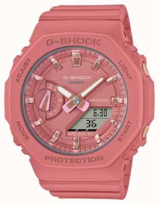 Casio 中型G级休克|粉色树脂表带|粉色表盘 GMA-S2100-4A2ER