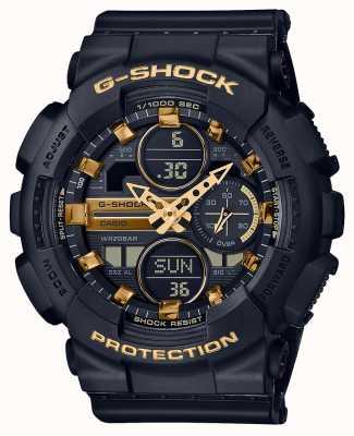 Casio 中性运动| g-shock |黑色树脂表带|黑色dal | GMA-S140M-1AER
