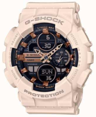 Casio G-shock |中性运动|浅粉色树脂表带|黑色表盘 GMA-S140M-4AER