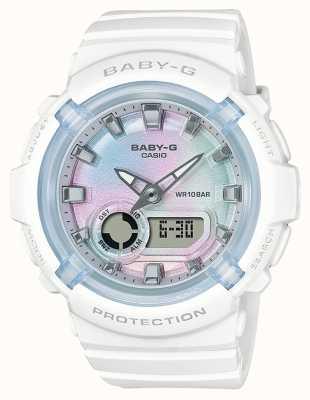 Casio 宝贝-g |白色树脂表带|多色表盘 BGA-280-7AER