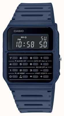 Casio 复古计算器手表|蓝色树脂表带|黑色表盘 CA-53WF-2BEF