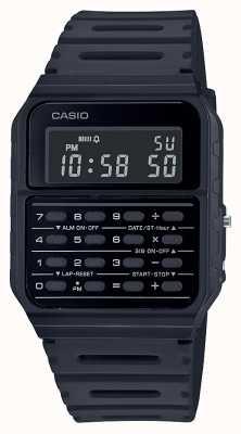 Casio 复古计算器手表|黑色树脂表带|黑色表盘 CA-53WF-1BEF