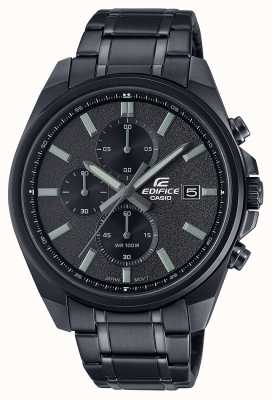 Casio 大厦所有黑色ip  黑色不锈钢手链 黑色表盘 EFV-610DC-1AVUEF