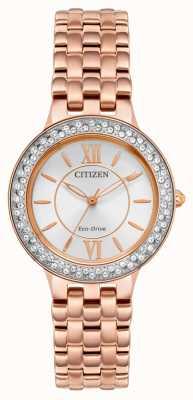 Citizen 女士生态驱动玫瑰金手链 FE2088-54A