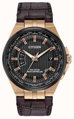 Citizen 男士世界永存|棕色皮革表带 CB0168-08E