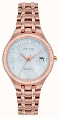 Citizen 女士生态驱动钻石表盘 EW2489-54D