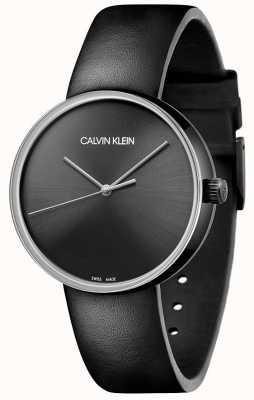 Calvin Klein 女士黑色皮革表带|黑色表盘 KBL234C1