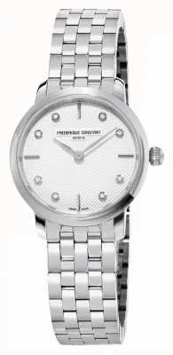Frederique Constant 女士超薄钻石表盘|不锈钢手链 FC-200STDS26B