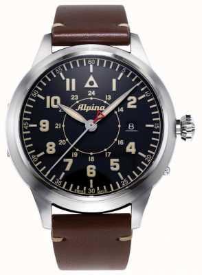 Alpina Smartimer飞行员遗产有限公司|棕色皮革表带|蓝色表盘 AL-525BBG4SH6