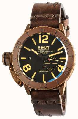 U-Boat Sommerso 46 |青铜|陶瓷表圈|自动棕色皮革表带 8486/C