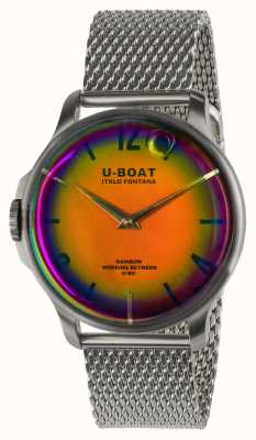 U-Boat 彩虹44毫米橙色SS金属手链 8469/MT