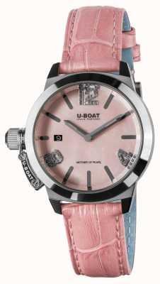 U-Boat Classico 38粉色皮革表带 8480