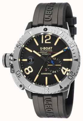 U-Boat 萨默索 |黑色橡胶表带手表 9007/A