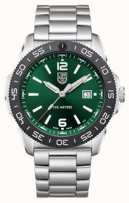Luminox 太平洋潜水员  绿色表盘 不锈钢手链 XS.3137