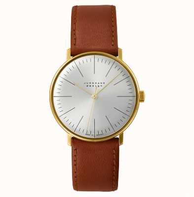Junghans Max bill handaufzug 皮革表带手表 027/5703.04