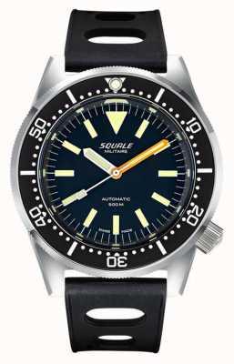 Squale 经典民兵|黑色表盘|黑色热带硅胶表带 1521-026-MIL-P