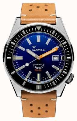 Squale 深蓝色|自动|蓝色表盘|棕色皮革表带 MATICXSB.PTC-CINU1565CM