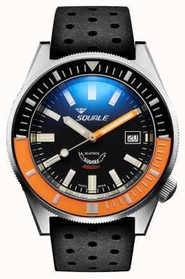 Squale 缎橙色|自动|黑色森伯斯特表盘|黑色硅胶表带 MATICXSC.NT-CINTRB22