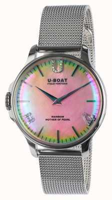 U-Boat 彩虹38粉色SS网眼手链 8472/MT