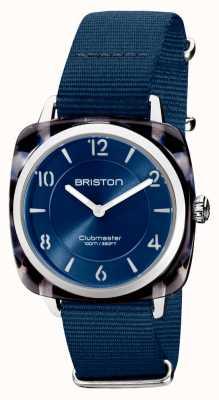 Briston Clubman别致|银色36毫米海军蓝色表盘|海军蓝色北约表带 21536.SA.UB.33.NMB