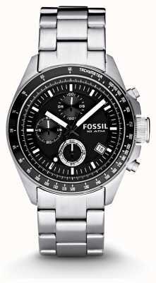 Fossil 男士银色计时码表时尚手表 CH2600IE