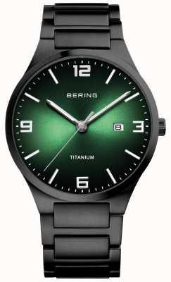 Bering 男士钛绿表盘腕表 15240-728