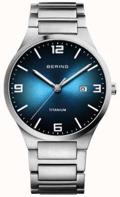Bering 男士拉丝钛蓝色表盘腕表 15240-777