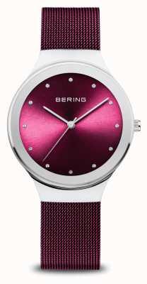 Bering 经典|女式|抛光银|紫色网 12934-909