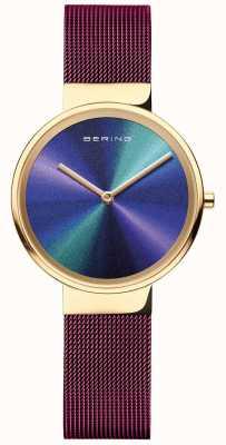 Bering 经典|女式|紫色网眼|多色表盘 19031-929