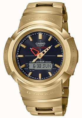 Casio G-shock |全金属手链|镀金|无线电控制 AWM-500GD-9AER
