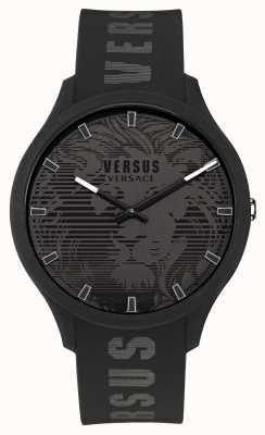 Versus Versace 男士 domus 黑色硅胶表带手表 VSP1O0521