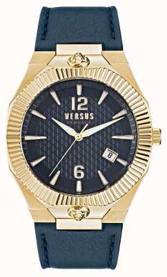 Versus Versace 回声公园蓝色皮表带腕表 VSP1P0221