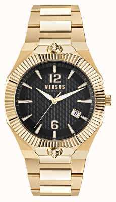 Versus Versace Echo park 金色不锈钢黑色表盘腕表 VSP1P0721