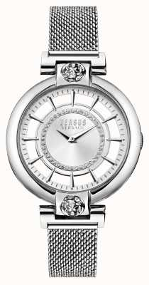 Versus Versace 女士银色湖面网眼不锈钢手链 VSP1H0521