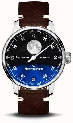 MeisterSinger Stratoscope 43毫米皮革表带 ST982