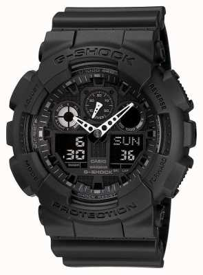 Casio G-shock计时器报警器黑色 GA-100-1A1ER