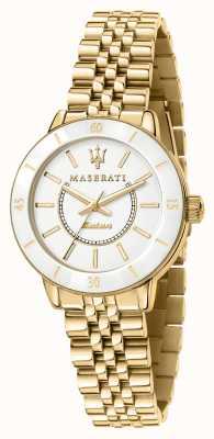 Maserati 女士后继太阳能镀金腕表 R8853145502