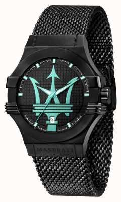 Maserati Potenza Aqua版黑色网眼手链 R8853144002