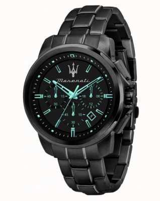 Maserati Successo Aqua Edition黑色镀金手表 R8873644003