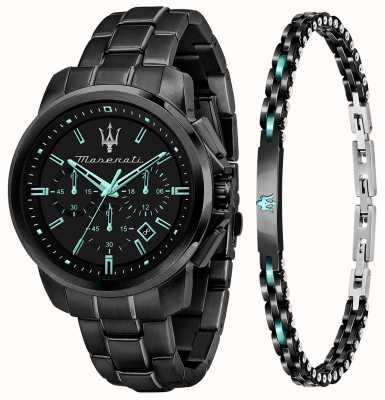 Maserati Aqua Edition男士礼品套装手表和手链 R8873644004