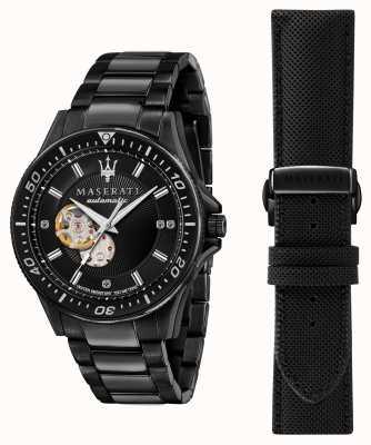 Maserati Sfida 钻石镀黑腕表 R8823140005