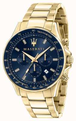 Maserati Sfida男士黄金镀金手表 R8873640008