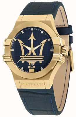 Maserati Potenza 男士蓝色皮表带腕表 R8851108035